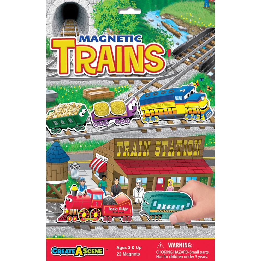 Create A Scene Magnetic Trains Playmonster