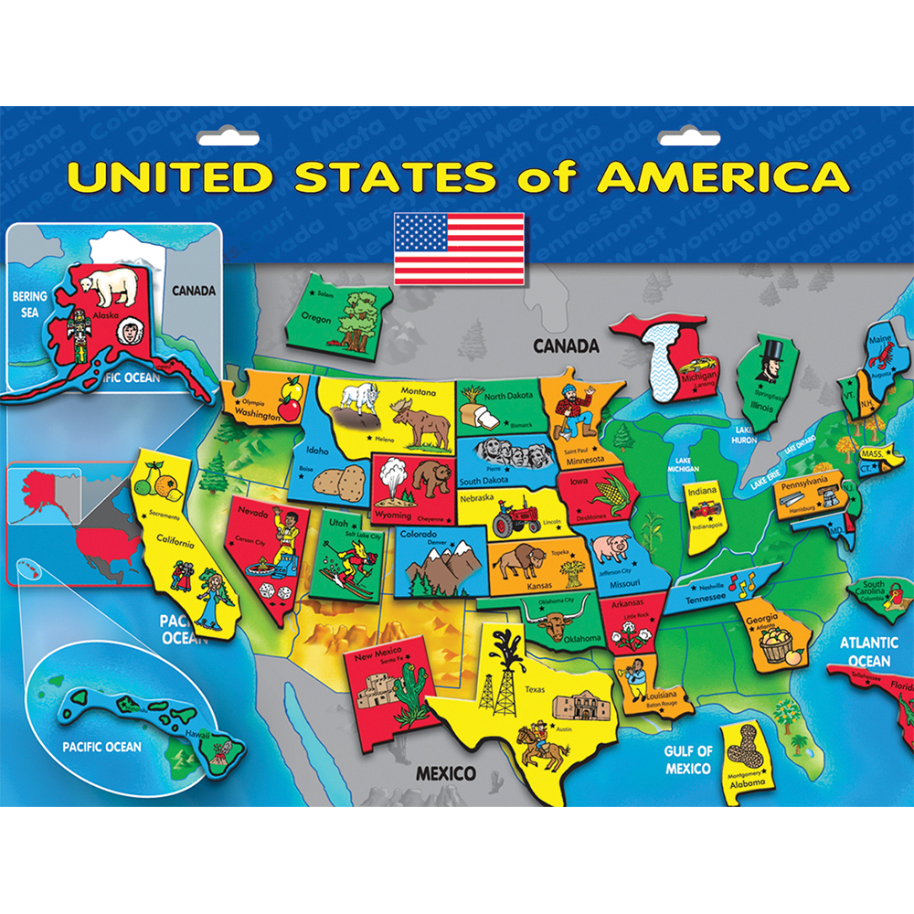 Magnetic USA Puzzle™ on clickable map of usa, electronic map of usa, geophysical map of usa, grid map of usa, yello map of usa, seismic map of usa, digital map of usa, geological map of usa, color coded map of usa, wooden map of usa, barometric pressure map of usa, topographic map of usa, movable map of usa,